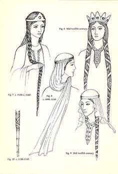 Norman 1066-1154 Hairstyles.  Notice the Viking look of their hair.