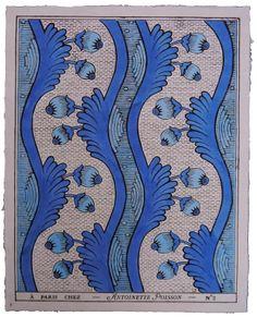 A Paris chez Antoinette Poisson Morris, Pretty Patterns, Blue Patterns, Motif Floral, Of Wallpaper, French Wallpaper, Painted Paper, Art Design, Textile Patterns