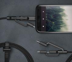 A Nomad acabou de lançar uma série deCabos Ultra Resistentes para o iPhone e outros dispositivos.Todos os três cabos foram construídos para suportar o dinamismo da vida cotidiana.Eles apresentam um núcleo de força 4x kev