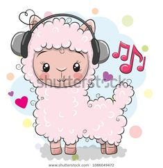Find Cute Cartoon Alpaca with headphones on a white background stock vectors and royalty free photos in HD. Explore millions of stock photos, images, illustrations, and vectors in the Shutterstock creative collection. Cartoon Monkey, Cartoon Clip, Cute Cartoon Girl, Cute Lion, Cute Sheep, Cute Owl, Alpacas, Cartoon Mignon, Cartoon Chicken