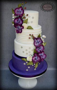 Plum Crazy - Cake by Karens Kakes