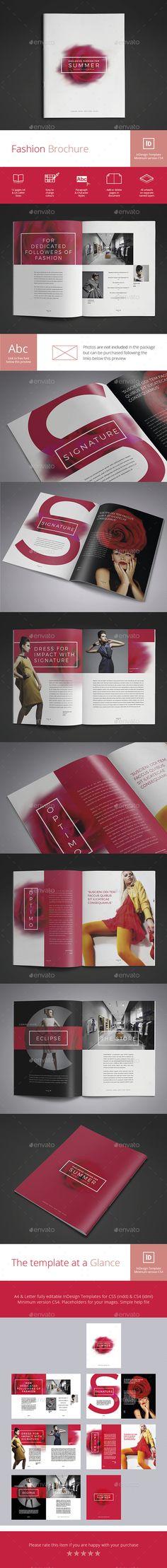Union - Fashion Lookbook Vol2 Fashion lookbook, Corporate brochure - fashion design brochure template