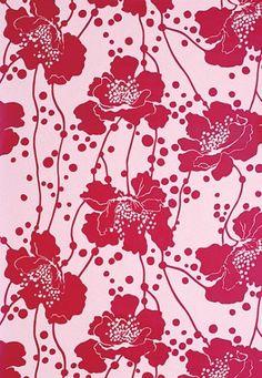 Design Notebook: Florence Broadhurst | Architectural Digest Textile Prints, Textile Design, Textiles, Florence Broadhurst, Tropical Design, Residential Interior Design, Architectural Digest, Flower Wall, Innovation Design