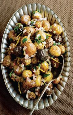 Warm Lemon & Shallot Potato Salad #sweetpaul