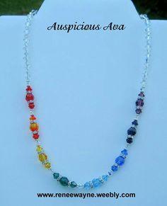 Swarovski Crystal chakra necklace www.reneewayne.weebly.com