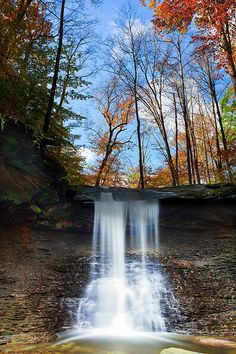 Blue Hen Falls at the Cuyahoga Valley National Park, Ohio