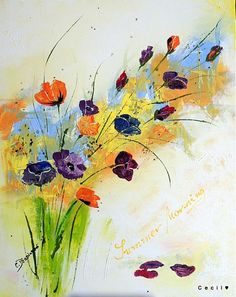 Cecil / Letné ráno Painting, Art, Flowers, Painting Art, Paintings, Kunst, Paint, Draw, Art Education