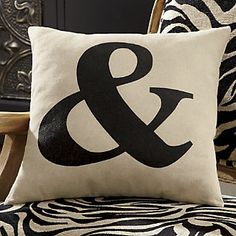 Totally retro! Ampersand sign in vintage Times New Roman font in black on taupe. | www.countrydoor.com