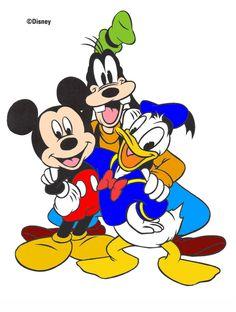 Mickey Donald Goofy | Mickey, Goofy, Donald Coloring Attempt by ~Kyoko-Li on deviantART