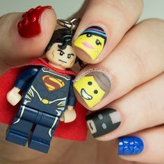 Lego movie nail art...all kinds of awesome from Sammy at the nailasaurus