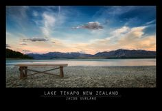 You could say 'bench with a view' about this bench. Very home made, but the view is 100% natural. Lake Tekapo, New Zealand, 2012. Processed 2016.