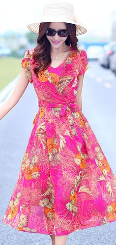 Chiffon chic summer dress