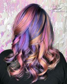 Neon Hair, Pink Hair, Gorgeous Hair Color, Hair Colour, Unnatural Hair Color, Creative Hair Color, Rainbow Hair, Rainbow Brite, Pretty Hairstyles