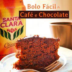 Bolo Fácil de Chocolate e Café - Mexido de Ideias