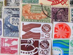 vintage mexican stamps
