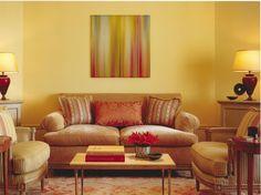Warm Yellow Living Room; Pacific Heights, San Francisco; Shelley Gordon Interior Design;