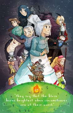a howl print to complement the spirited away print i made last year! Howl's Moving Castle, Studio Ghibli Art, Studio Ghibli Movies, Hayao Miyazaki, Hyanna Natsu, Studio Ghibli Characters, Howl And Sophie, Japanese Characters, Animation Film