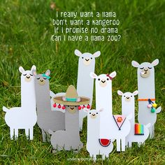 Under A Cherry Tree: I Wish I Have A Llama Pet