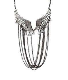 Addons Antique Silver Wings Multi Strand Neckpiece, http://www.snapdeal.com/product/addons-antique-silver-wings-multi/1390190?pos=56;3898