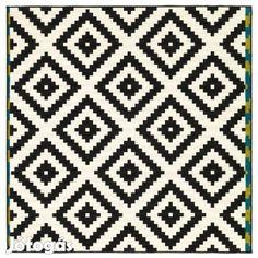 Ikea Lappljung Ruta fekete-fehér szőnyeg 200 x 200 cm - II. kerület, Budapest