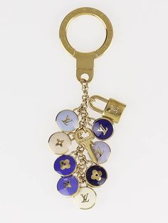 Louis Vuitton Azur Pastille Cles Key Ring