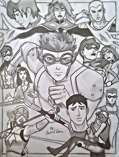 Young Justice drawing :) Holy Crap this is amazing.