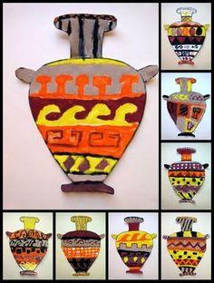 Plastiquem: CERÀMICA GREGA - 1 6th grade Greek vases Ancient Greek Art, Ancient Greece, Egyptian Art, Ancient Aliens, Ancient Egypt, 7 Arts, Greece Art, Art Through The Ages, Greek Pottery