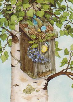 Box birds nest by floquilter, via Flickr
