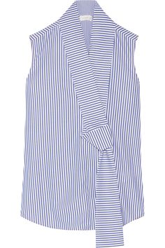 Victoria Beckham | Striped cotton-poplin top | NET-A-PORTER.COM