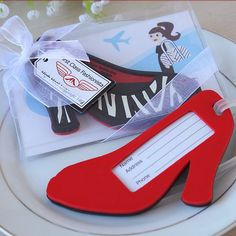 10PCS/LOT High Heel shoe Luggage Tag  novelty wedding favors bridal shower gifts Free shipping $35.00