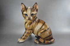 Harvey Knox Brown Tabby Kitty Cat Figurine M Tokai Japan