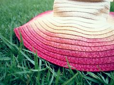 Ombre sun hat  #DIY    # Pinterest++ for iPad #
