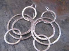 Everyday Hand Forged Sterling Silver Hoop by StrawberryFrog, $55.00