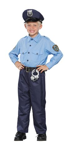 Deluxe Policeman Child Costume  sc 1 st  Pinterest & Jr. Police Officer Costume with Cap - Police Costumes for Children ...