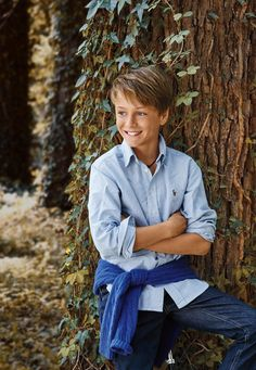 Best Boys Classic Blue Pin Striped Polo Ralph Lauren Button Down Shirt. Back to School: Iconic essentials for the year ahead! Young Boys Fashion, Little Boy Fashion, Toddler Fashion, Kids Fashion, School Fashion, Trendy Boy Outfits, Boys Summer Outfits, Kids Outfits, Mother Son Photography
