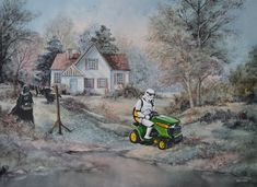 Distractify | Artist Paints Famous Characters Into Old Thrift Store Paintings And Raises Their Value