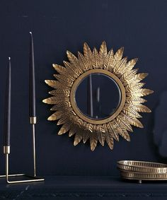 This lovely little sunburst mirror has an antiqued gold or silver metal frame with convex fisheye mirror and is reminiscent of ones we have seen in Interior Inspiration, Design Inspiration, Pergola Attached To House, Sunburst Mirror, Art Object, Silver Metal, Chinoiserie, Designs To Draw, Antique Gold