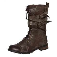 Groove Women's 'Canyon' Brown Belted Boots | Overstock.com
