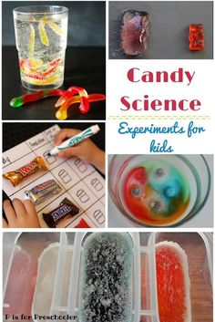 Skip the sugar high and use that extra holiday candy for science!