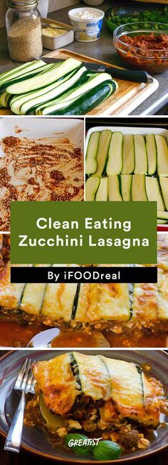6. Clean Eating Zucchini Lasagna #healthy #dinner #recipes…