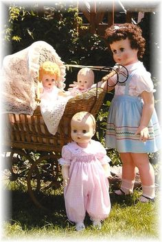 The 3 smallest dolls are my childhood dolls and were well played with. misc2.jpg (467×700)