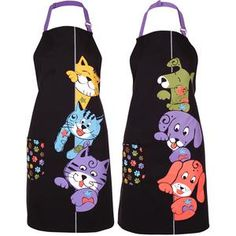 Make mealtime magic with the inspiration of these peeping pets -- though you may have to share your nummy creation! With a paw print side pocket ready to hold necessities. Jean Apron, Sewing Crafts, Sewing Projects, Cute Aprons, Animal Rescue Site, Denim Crafts, Sewing Aprons, Apron Designs, Kitchen Aprons