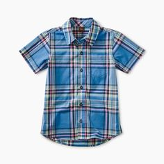 db841b83 Tea Collection Madras Woven Shirt - Seabreeze Plaid. Bloom Kids Collection