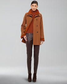 Akris Fleece-Lined Coat