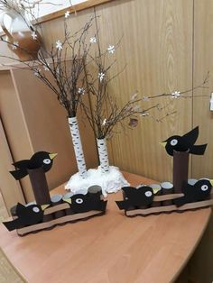 Techno, Art For Kids, Diy And Crafts, Birds, Seasons, Activities, Children, Winter, Home Decor