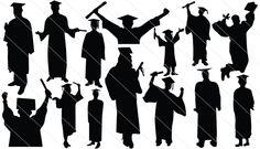 Graduation Silhouette Vector (14)