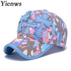 39fcf5daf4f Yienws Camo Baseball Cap For Man Summer Cotton Fishing Baseball Cap Bone  Gorras Hat For Woman Golf Sport Pink Cap YH164-in Baseball Caps from Men s  Clothing ...
