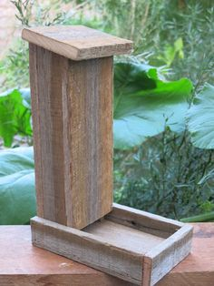 Handmade Reclaimed / Recycled Hardwood  Bird Feeder – via blonde-rust-projects, ebay