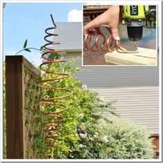 The Homestead Survival | How to Make a Hanging Spinning Garden Copper Mobile | Gardening - DIY Project - Homesteading - http://thehomesteadsurvival.com