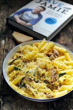 Smoked mackerel carbonara (Jamie Oliver recipe) - Recipe in english...